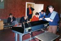 Eddy Vanoosthuyse met het Vilnius strijkkwartet (opname cd Mozart-Weber Quintets voor Sony Records)