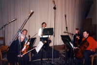 Eddy Vanoosthuyse and Vilnius Quartet (recording studio Vilnius)