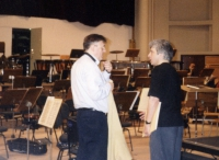 Peter Oundijan (dirigent Toronto Symphony Orchestra) and Eddy Vanoosthuyse (production with the Clar