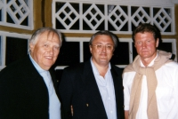 Saulius Sondeckis (conductor Lithuanian Chamber Orchestra), Eddy Vanoosthuyse and Rolandas Paksas (t