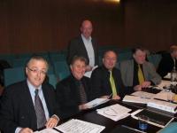 fltr: Eddy Vanoosthuyse, Stanley Drucker (New York Philharmonic), Jan Briers (CEO Festival van Vlaanderen), Marc Matthys, Karl Leister (Berliner Philharmoniker)