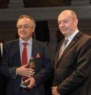 Uitreiking van de 'Torenwachtersprijs' door Gouverneur Jan Briers