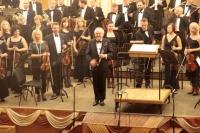 Na uitvoering Klarinetconcerto van Jan Van der Roost met Lviv Philharmonic (Oekraïne)