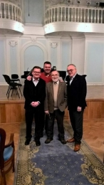 Part of the jury of the International Clarinet Competition at the Tchaikovsky Conservatory in Moscow with the legendary bassoonist Valeri Popov (Rachmaninov Hall)