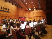Conduction the Qingdao Symphony Orchestra (China)