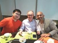 With former students Zhen Sun (clarinetprofessor Conservatory ChengDu/china) and Marco Mazini (clarinetprofessor university Lima/Peru)